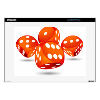 four magic dices laptop skin
