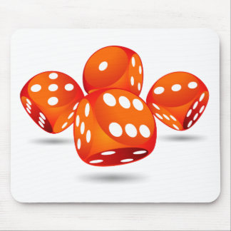 four magic dices mouse pad