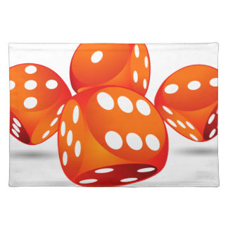 four magic dices placemat