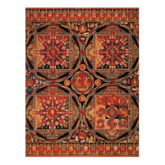 Four Mandalas Postcard