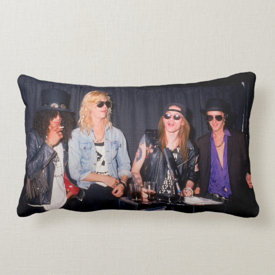 Four Members of Guns N' Roses Lumbar Pillow