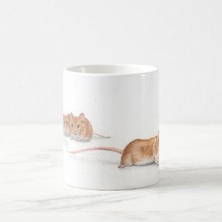 Four Mice Basic White Mug