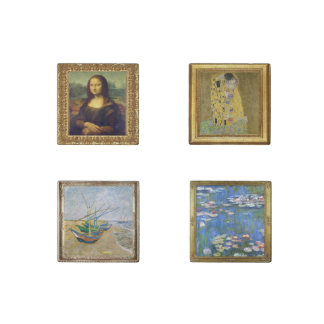 Four Mini Masterpiece Painting Marble Magnets