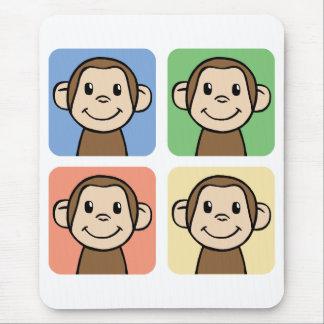 Four Monkeys Mouse Pad