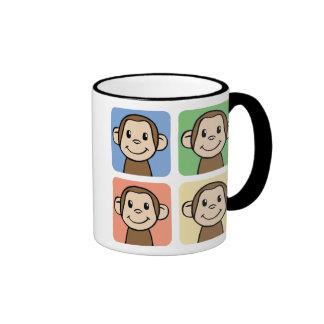 Four Monkeys Ringer Coffee Mug
