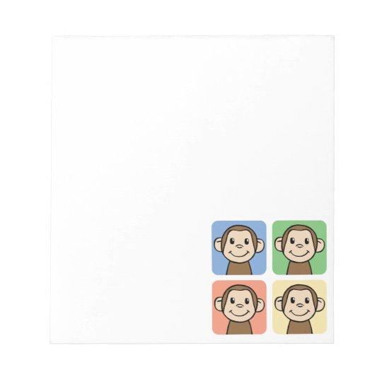 Four Monkeys Notepad