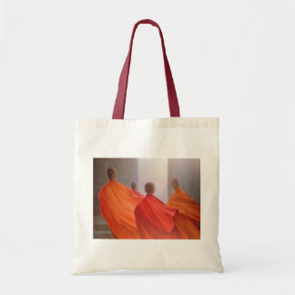 Four Monks on Temple Steps Tote Bag
