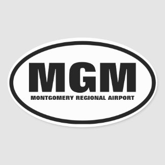 "FOUR Montgomery ""MGM"" Oval Sticker"