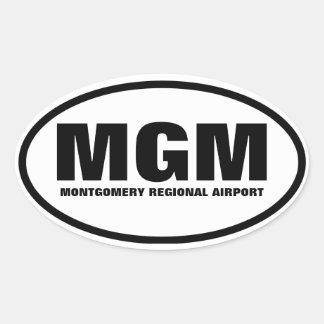 "FOUR Montgomery ""MGM"" Oval Sticker"