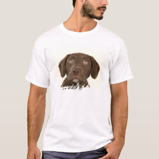 Four-Month-Old Chocolate Lab Puppy Portrait T-Shirt