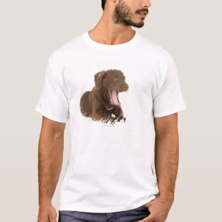 Four-Month-Old Chocolate Lab Puppy Yawning T-Shirt