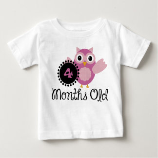 Four Months old adorable Owl Baby T-Shirt