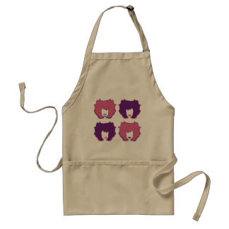 FOUR MOODS in PINK and PURPLE Adult Apron