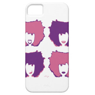 FOUR MOODS in PINK and PURPLE iPhone SE/5/5s Case