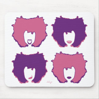 FOUR MOODS in PINK and PURPLE Mouse Pad