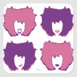 FOUR MOODS in PINK and PURPLE Stickers