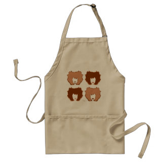 FOUR MOODS in TAN and BROWN Adult Apron