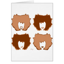 FOUR MOODS in TAN and BROWN Card