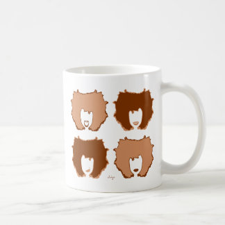 FOUR MOODS in TAN and BROWN Coffee Mug