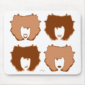FOUR MOODS in TAN and BROWN Mouse Pad