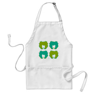 FOUR MOODS in TEAL and GREEN Adult Apron