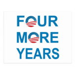 FOUR MORE YEARS - Barack Obama 2012 Postcard