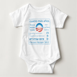Four More Years for Obama/Biden Baby Bodysuit