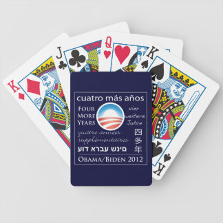 Four More Years for Obama/Biden Bicycle Playing Cards