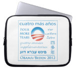 Four More Years for Obama/Biden Laptop Sleeve