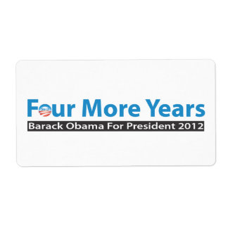Four More Years for Obama Label