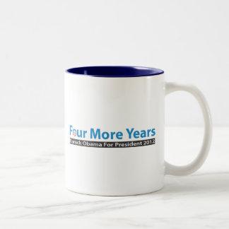 Four More Years for Obama Two-Tone Coffee Mug