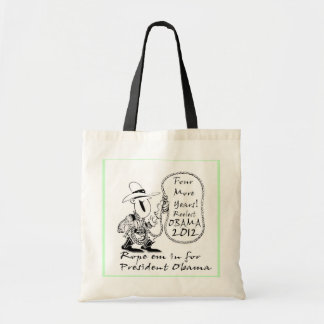 FOUR MORE YEARS OBAMA 2012 TOTE BAG