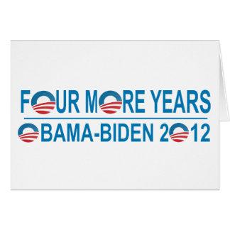 Four More Years - Obama-Biden 2012 Card
