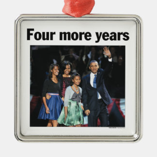 Four More Years Obama Christmas Ornament