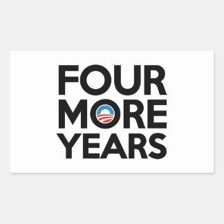 Four More Years Rectangular Sticker