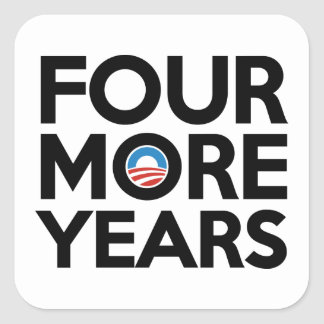 Four More Years Square Stickers
