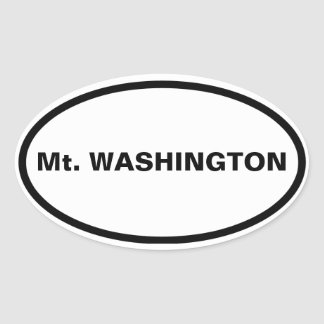 FOUR Mt. Washington Oval Sticker