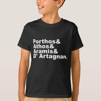 Four Musketeers - Porthos Athos Aramis D'Artagnan T-Shirt