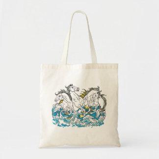 four mythological seahorses tote bag