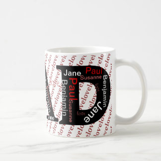 Four Names Personalized Father's Day Mug