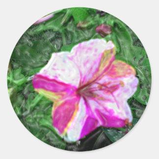 Four O'clocks Flower Classic Round Sticker