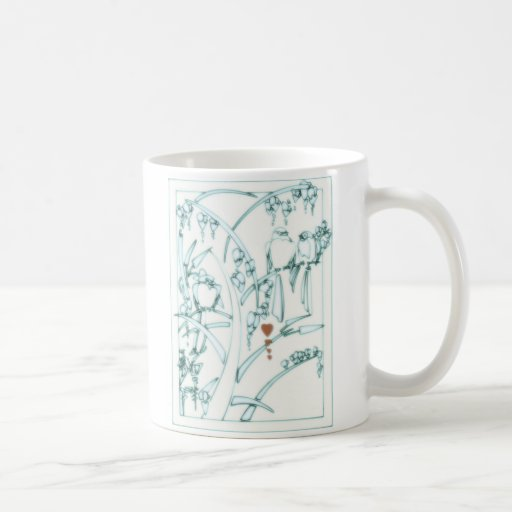 Four of Hearts_Chinese_Birds Classic White Coffee Mug