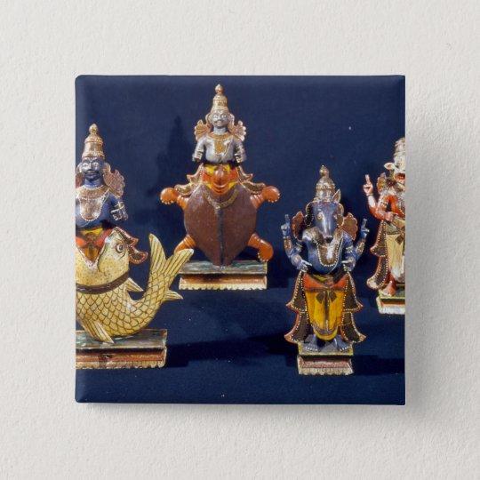 Four of the incarnations of Vishnu Pinback Button