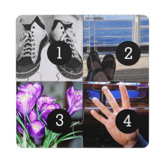 Four of Your Photos Make Your Own Keepsake Puzzle Coaster