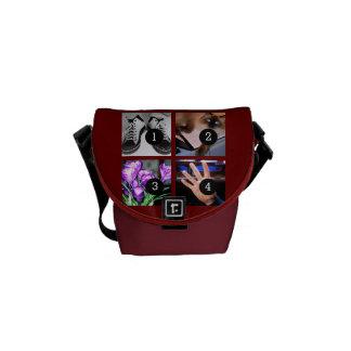 Four of Your Photos Make Your Own Original Courier Bag