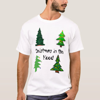 Four Old Green Chistmas Trees T-Shirt