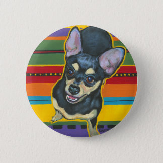 Four on the Floor on a Serape Pinback Button
