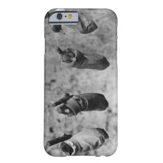 Four one-day-old ducklings pegged out of harm's barely there iPhone 6 case