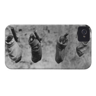 Four one-day-old ducklings pegged out of harm's Case-Mate iPhone 4 case