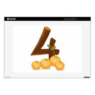 Four oranges laptop decal